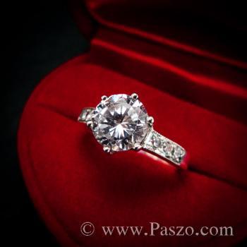 แหวนเพชร แหวนเงิน หนามเตย6จุด #3