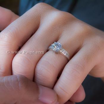 แหวนเพชร แหวนเงิน หนามเตย6จุด #4