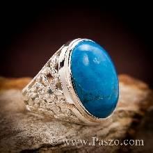 แหวนเทอร์ควอยซ์ แหวนผู้ชาย แหวนเงินแท้