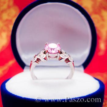 แหวนพลอยสีชมพู แหวนเงินแท้ Pink #3