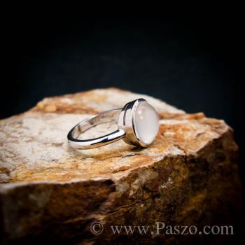 แหวนมุกดาหาร แหวนมูนสโตน แหวนเงินแท้ #4