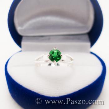 แหวนสีเขียว แหวนเงินแท้ แหวนเล็ก #4
