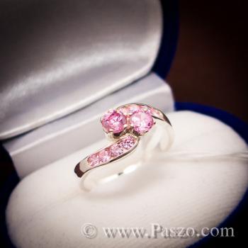 แหวนพลอยสีชมพู pink topaz #2