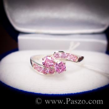 แหวนพลอยสีชมพู pink topaz #4