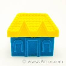 กล่องใส่แหวน รูปบ้าน หุ้มกำมะหยี่ กล่องแหวน กล่องบ้าน