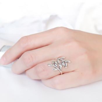 แหวนก้านใบมะกอก แหวนเงินแท้ แหวนใบมะกอก #2
