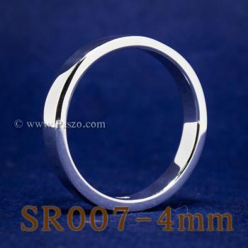 แหวนเกลี้ยงหน้าเรียบ กว้าง4มิล แหวนเงินขอบตรง #4