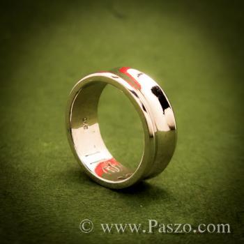 แหวนเงินเว้ากลาง หน้ากว้าง7มิล แหวนเงินแท้ #2
