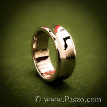 แหวนเงินเว้ากลาง หน้ากว้าง7มิล แหวนเงินแท้ #3