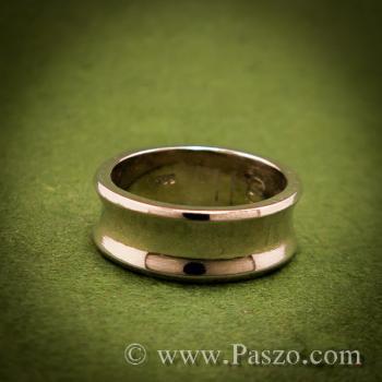 แหวนเงินเว้ากลาง หน้ากว้าง7มิล แหวนเงินแท้ #4