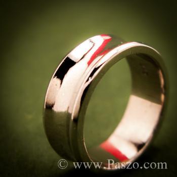 แหวนเงินเว้ากลาง หน้ากว้าง7มิล แหวนเงินแท้ #5