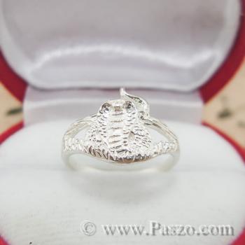 แหวนปีมะเส็ง แหวน12นักษัตร แหวนเงินแท้ #2