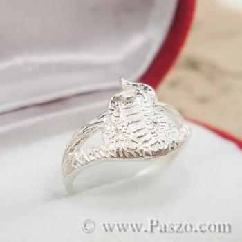 แหวนปีมะเส็ง แหวน12นักษัตร แหวนเงินแท้ #3