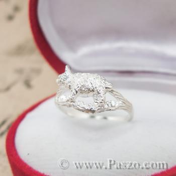 แหวนปีกุน แหวนปีหมู แหวนเงินแท้ #5