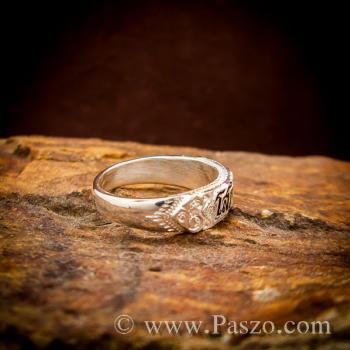 แหวนนามสกุล ลงยาสีดำ แหวนชื่อ #3