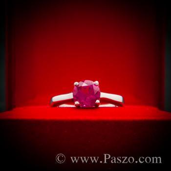 แหวนทับทิม เม็ดเดี่ยว แหวนพลอยสีแดง #5