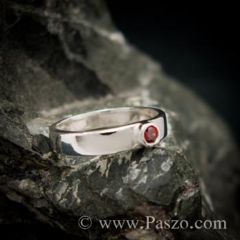แหวนโกเมน แหวนพลอยโกเมน แหวนเงิน #3