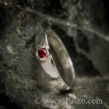 แหวนโกเมน แหวนพลอยโกเมน แหวนเงิน