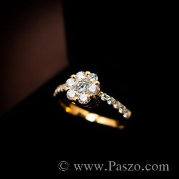 แหวนเพชร แหวนทองแท้ แหวนดอกพิกุล #2