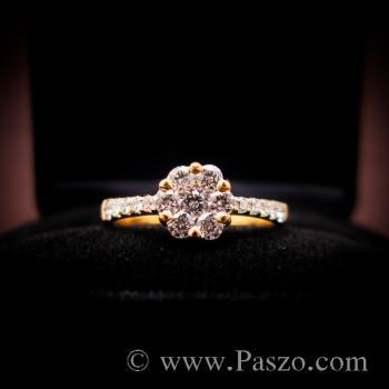 แหวนเพชร แหวนทองแท้ แหวนดอกพิกุล #6