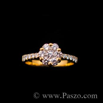 แหวนเพชร แหวนทองแท้ แหวนดอกพิกุล #8