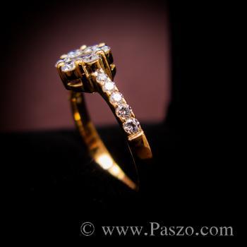 แหวนเพชร แหวนทองแท้ แหวนดอกพิกุล #3