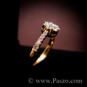 แหวนเพชร แหวนทองแท้ แหวนดอกพิกุล #4