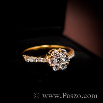 แหวนเพชร แหวนทองแท้ แหวนดอกพิกุล #5