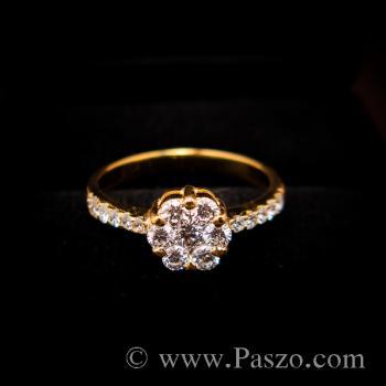 แหวนเพชร แหวนทองแท้ แหวนดอกพิกุล #7