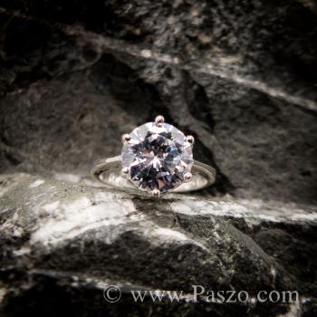 แหวนเพชร แหวนเพชรเม็ดเดี่ยว หนามเตย6จุด #3