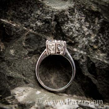 แหวนเพชร แหวนเพชรเม็ดเดี่ยว หนามเตย6จุด #4