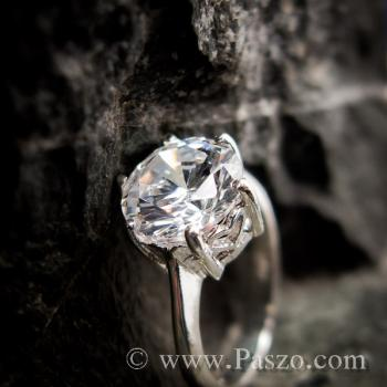 แหวนเพชร แหวนเพชรเม็ดเดี่ยว หนามเตย6จุด #5