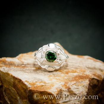 แหวนมรกต แหวนเงินแท้ แหวนพลอยสีเขียว #2
