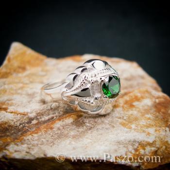 แหวนมรกต แหวนเงินแท้ แหวนพลอยสีเขียว #3