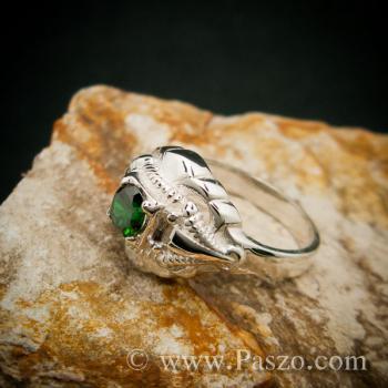 แหวนมรกต แหวนเงินแท้ แหวนพลอยสีเขียว #4
