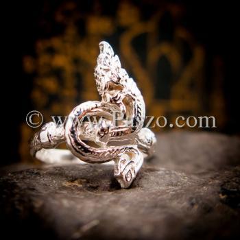 แหวนพญานาค แหวนเงินแท้ พญานาค #2