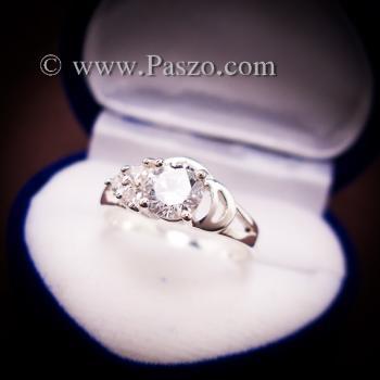 แหวนเพชร แหวนเงิน แหวนเงินฝังเพชร #2