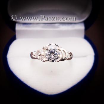 แหวนเพชร แหวนเงิน แหวนเงินฝังเพชร #3