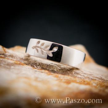 แหวนก้านใบมะกอก แหวนเงินแท้ แหวนแห่งชัยชนะ #6