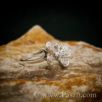 แหวนผีเสื้อ แหวนเพชร แหวนเงินฝังเพชร #3
