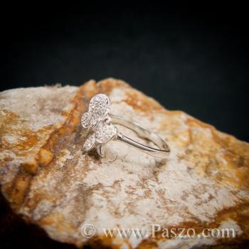 แหวนผีเสื้อ แหวนเพชร แหวนเงินฝังเพชร #4