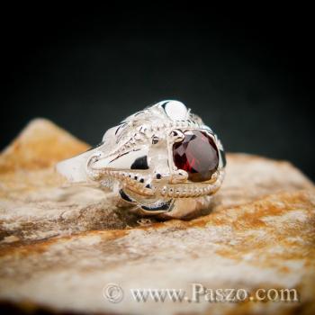 แหวนพลอยโกเมน เงินแท้  #2