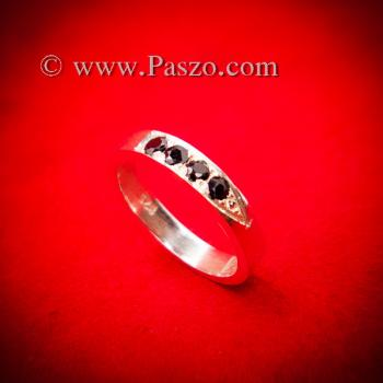 ชุดแหวนคู่รัก ฝังนิลแท้ 4เม็ด #2