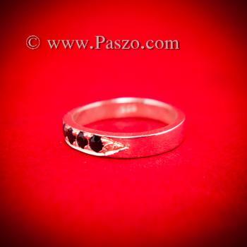 ชุดแหวนคู่รัก ฝังนิลแท้ 4เม็ด #3