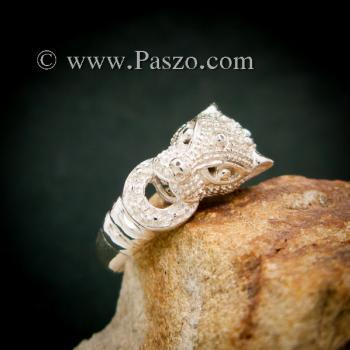 แหวนเสือ แหวนเงินแท้  #8