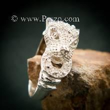 แหวนเสือ แหวนเงินแท้