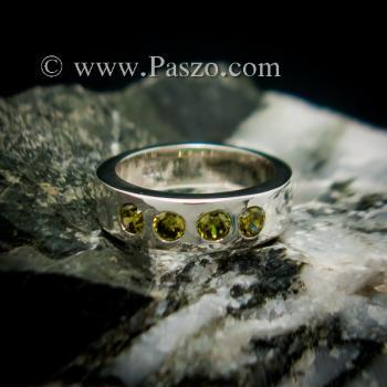 แหวนพลอย สีเขียวมะกอก 4 #5
