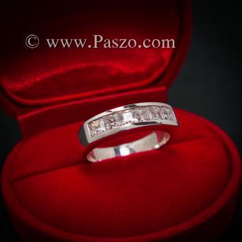 แหวนเพชร แหวนเงินแท้ เพชร #3