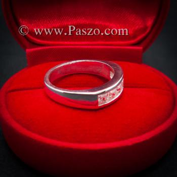 แหวนเพชร แหวนเงินแท้ เพชร #4