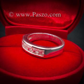 แหวนเพชร แหวนเงินแท้ เพชร #5